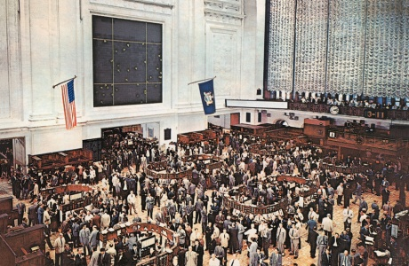 New York Stock Exchange, 2010|Reprint of historical picture postcard