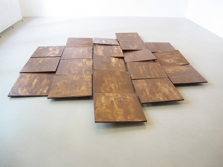 Piece of dirt, 2011|Bemalte Holzplatten|Größe variabel