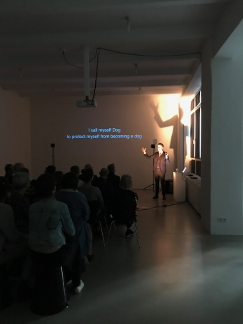 Erik Bünger|Lecture Performance: ›The Elephant Who Was a Rhinoceros‹|07. September 2018, M29